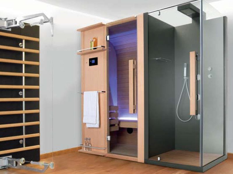 Sauna with shower CUNA DOCCIA 200x92 - Sauna Vita