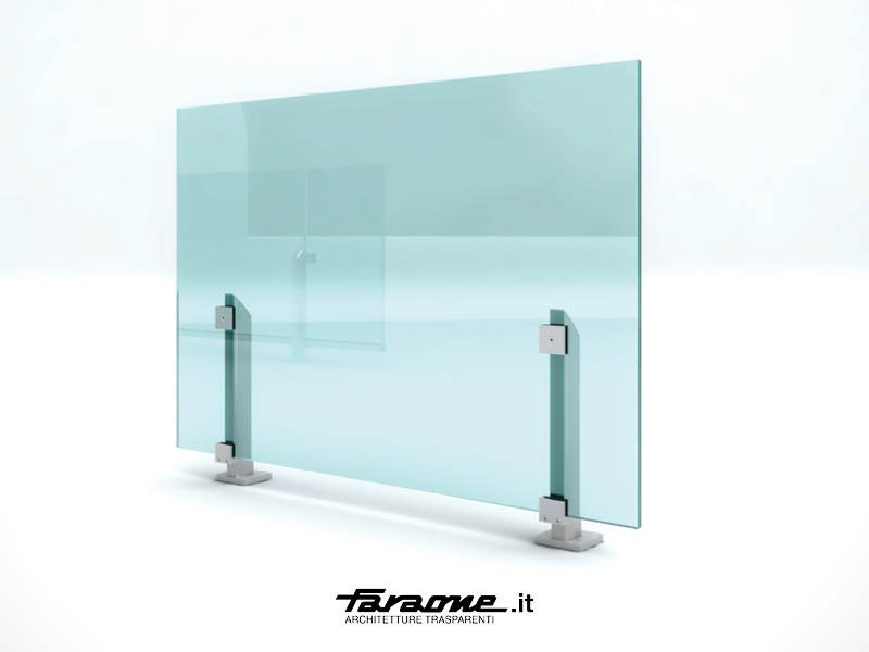 Baranda de escalera en aluminio y vidrio MAIOR - FARAONE