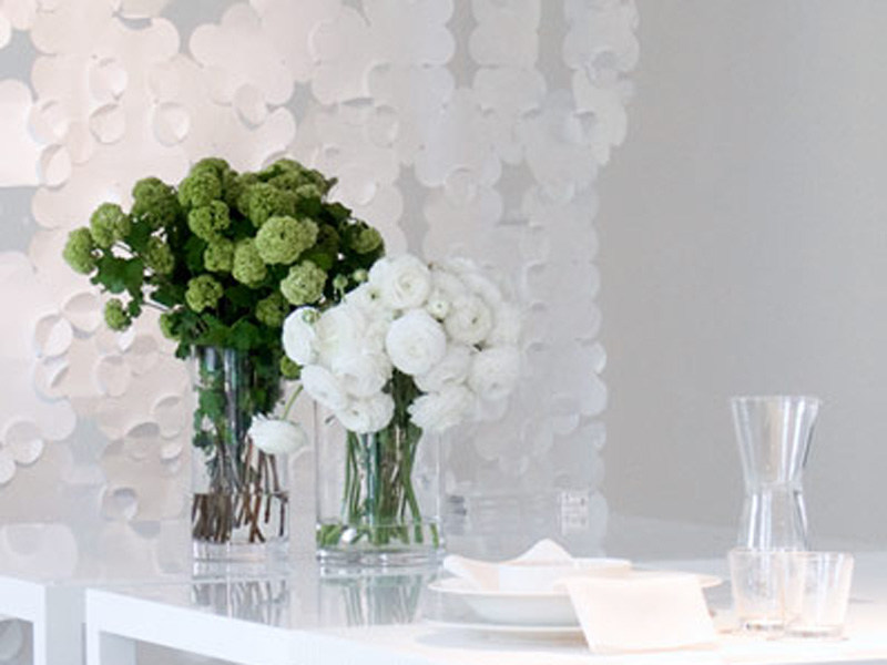 Technical fabric curtain FLOWER - Woodnotes