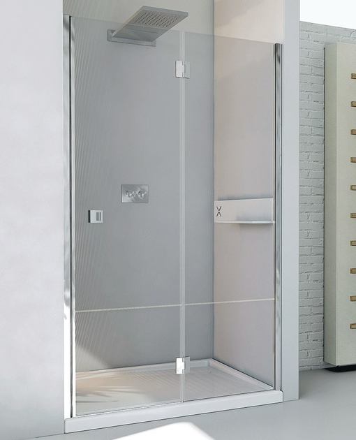 Box doccia a nicchia con porta a battente petrarca b1 relax - Box doccia relax ...