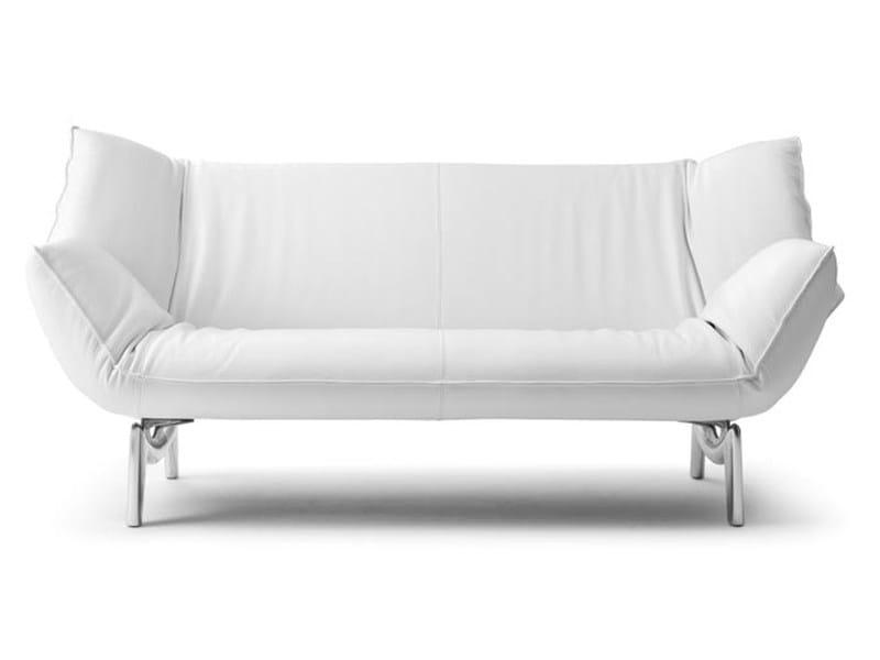 Recliner leather sofa TANGO - LEOLUX