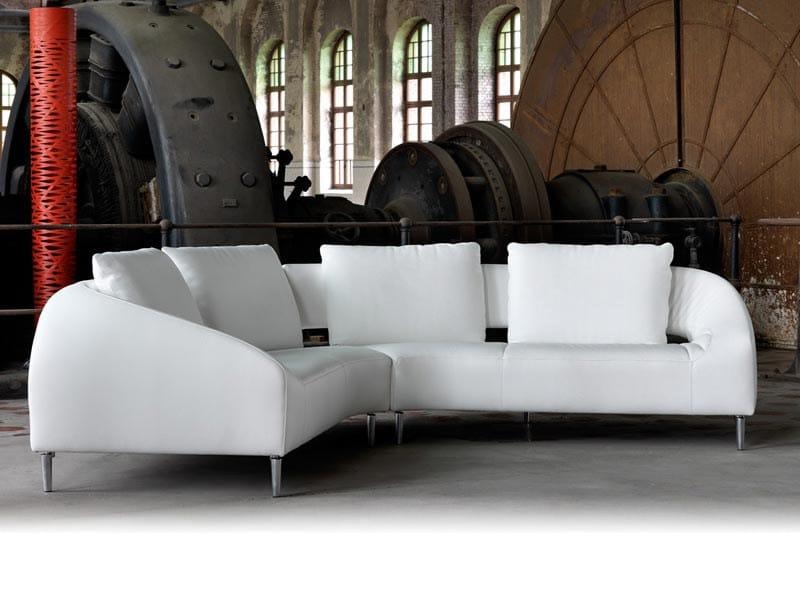 Corner sectional leather sofa VOL DE REVE | Sofa - LEOLUX
