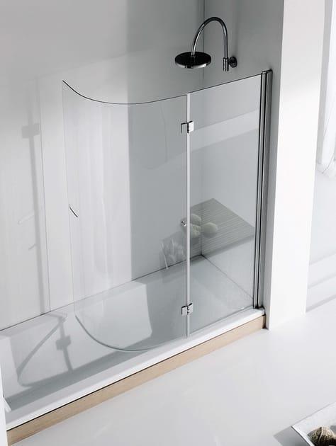 Folding crystal bathtub wall panel LIGHT VR - RELAX