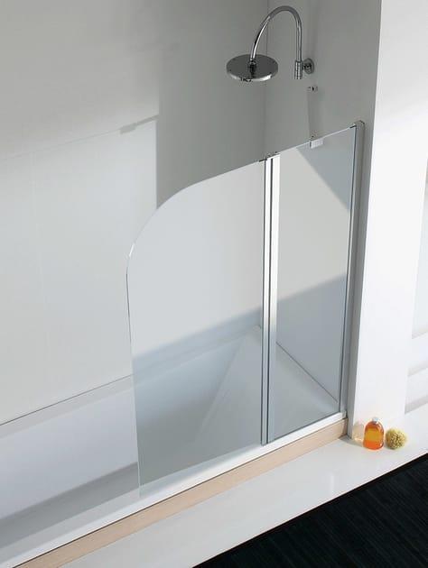 Crystal bathtub wall panel LIGHT V - RELAX