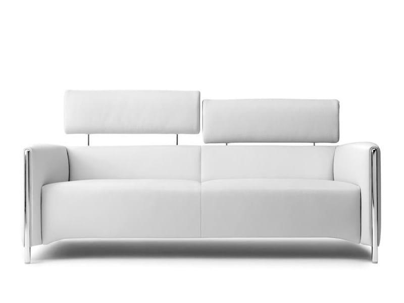Leather sofa with headrest GONCHAROV | Sofa - LEOLUX