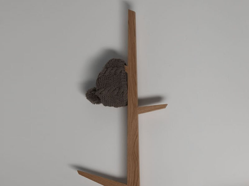Wall Mounted Wooden Coat rack TREE by Ext design Studio 63