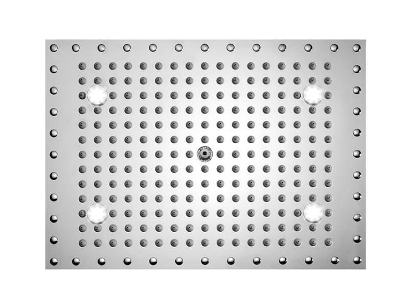LED built-in overhead shower DREAM RECTANGULAR LIGHT - Bossini