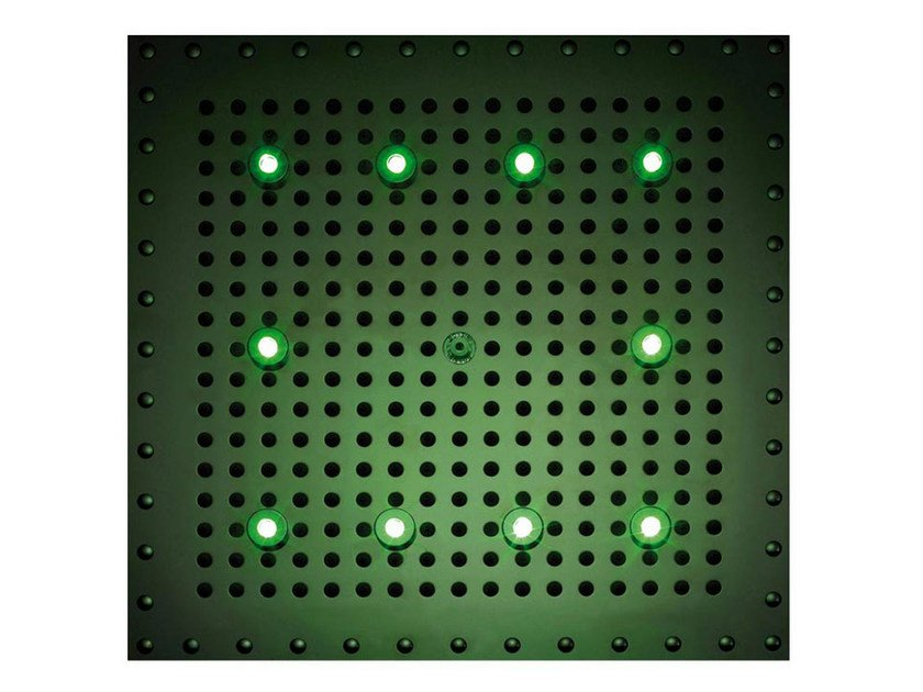 LED built-in overhead shower for chromotherapy DREAM CUBE LIGHT RGB CROMOTHERAPY by Bossini