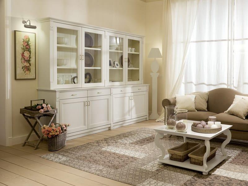 Vetrina in legno in stile provenzale collezione english for Arredamento soggiorno stile provenzale