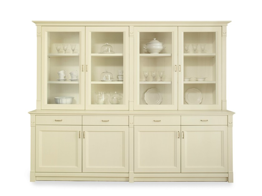 Solid wood highboard with doors ENGLISH MOOD | Highboard - Minacciolo