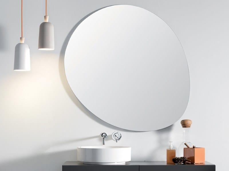 Specchio a parete per bagno stone by ex t design studio 63 - Specchio bagno design ...