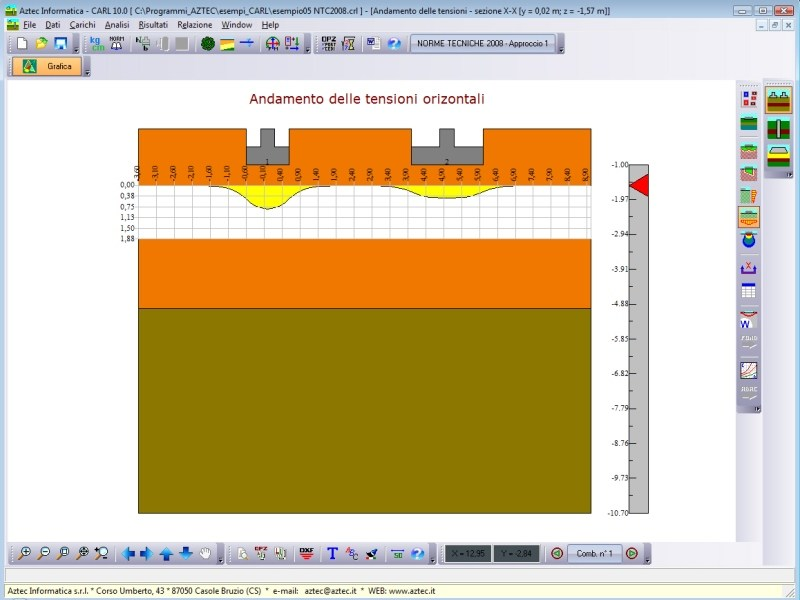 Foundation calculation (plinth, slab, ground beam) / Pile and micropile calculation CARL by Aztec Informatica