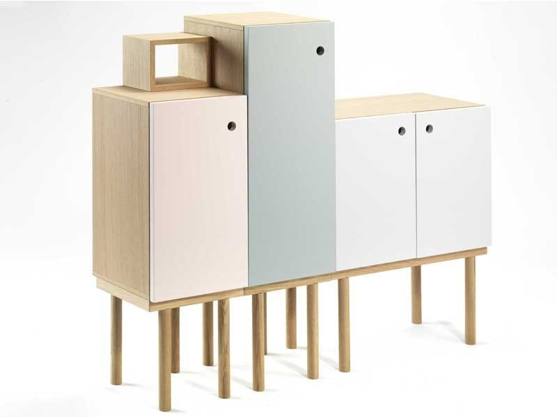 Lacquered modular storage unit COLLAGE CABINET - Ex.t