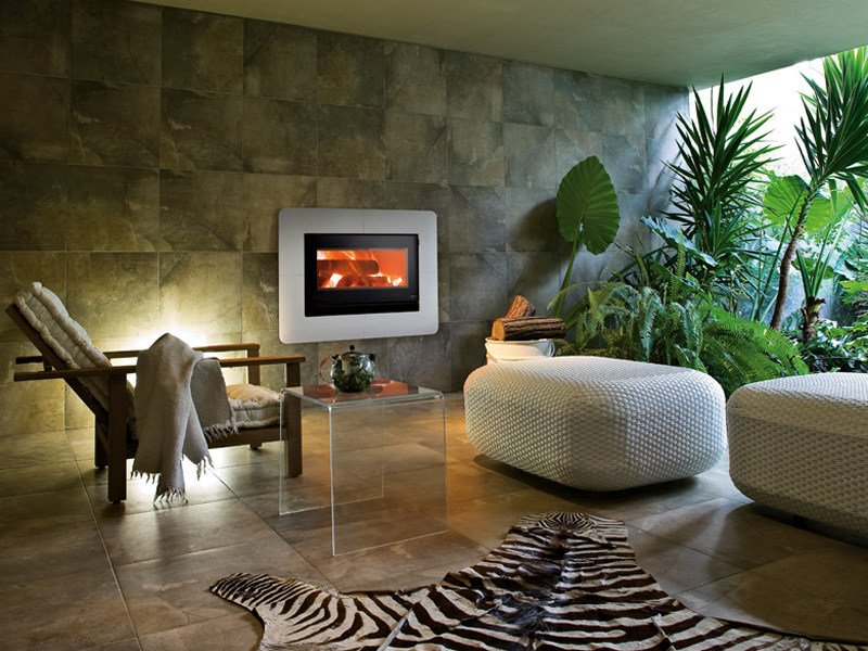 Reconstructed stone Fireplace Mantel MOON by MCZ GROUP