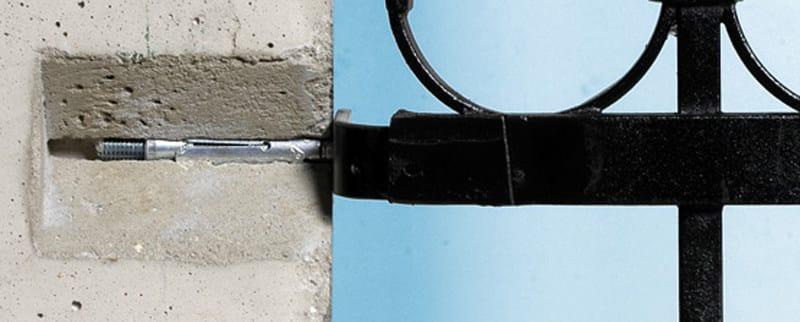 Galvanized steel Wall plug Fischer TA M by fischer italia