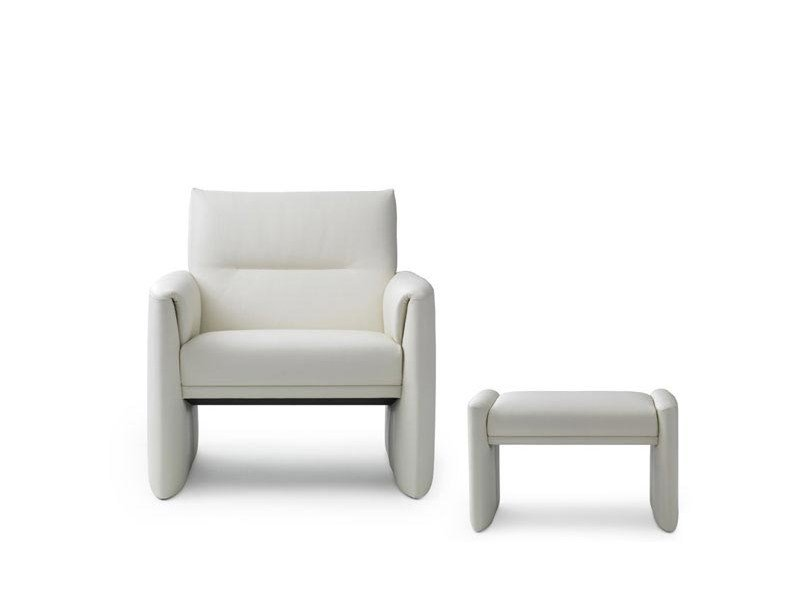 Leather armchair with armrests BOAVISTA | Armchair - LEOLUX