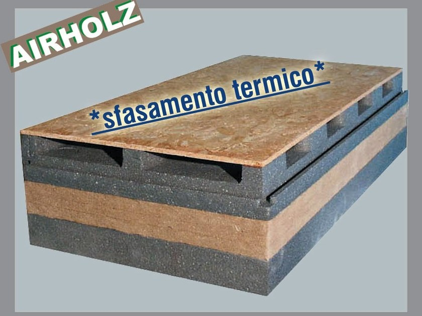 Wood fibre ventilated roof system AIRHOLZ TOP GRAFITE - Thermak by MATCO