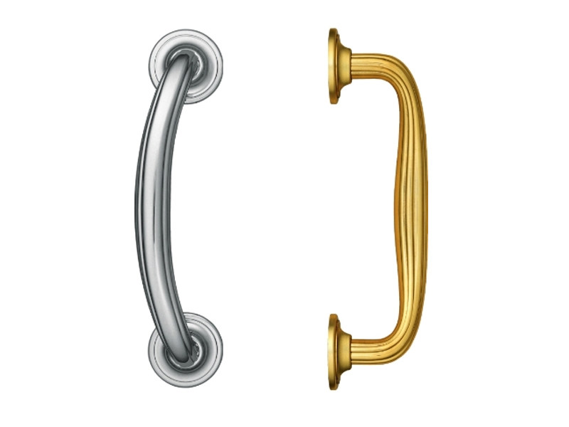 Contemporary style brass pull handle 711 | Pull handle by Enrico Cassina