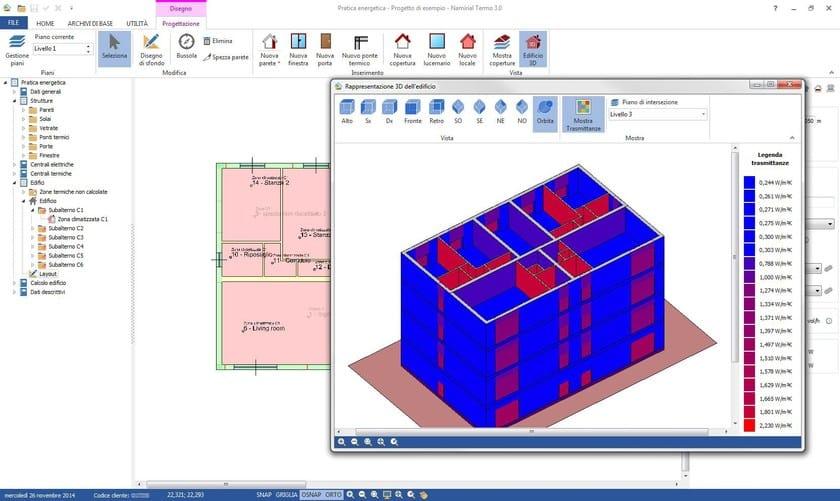 Visualizzazione termografica del fabbricato