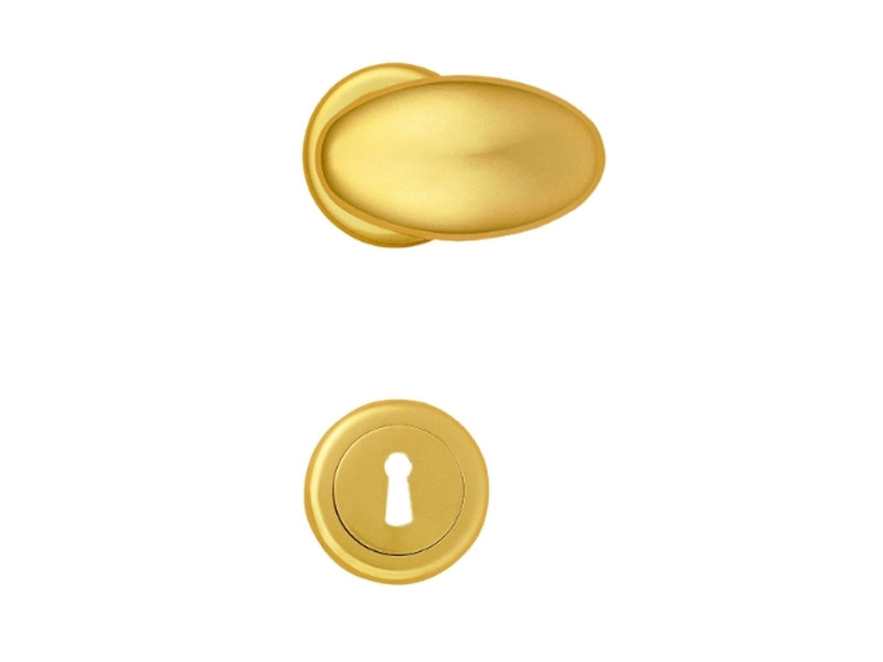 Brass door handle with lock 3000 - ADA - Enrico Cassina