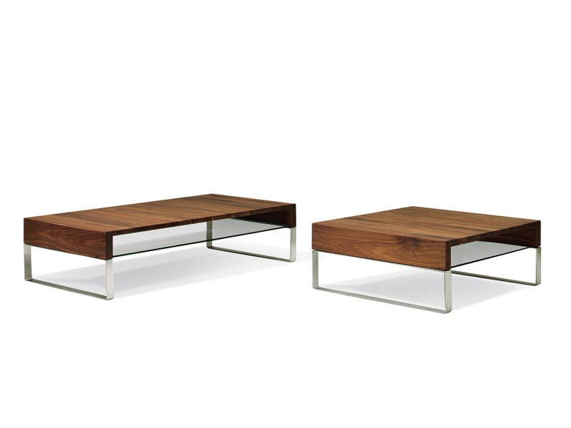 Low wooden coffee table for living room ADITI - LEOLUX