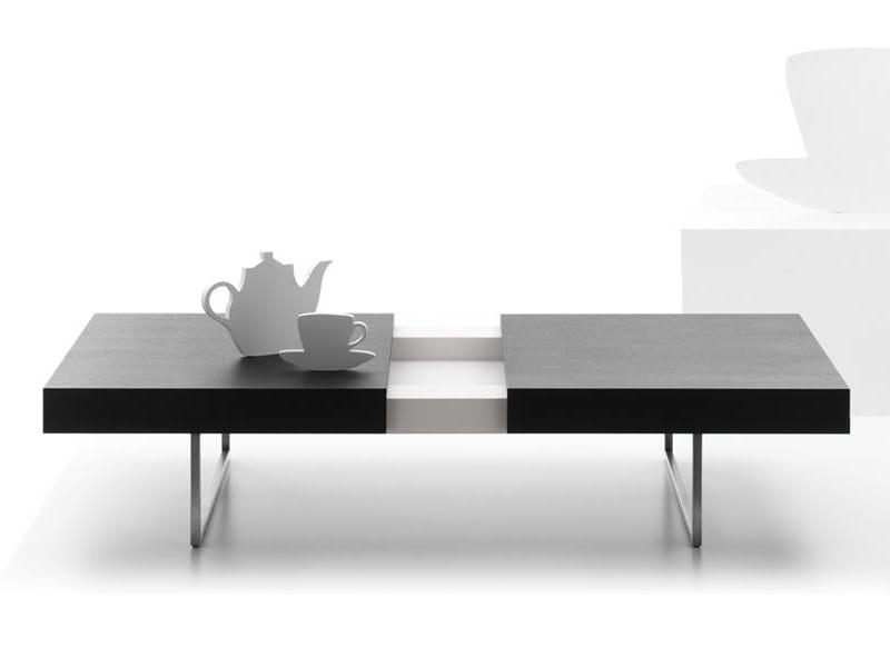 Rectangular wooden coffee table for living room TABLET - LEOLUX