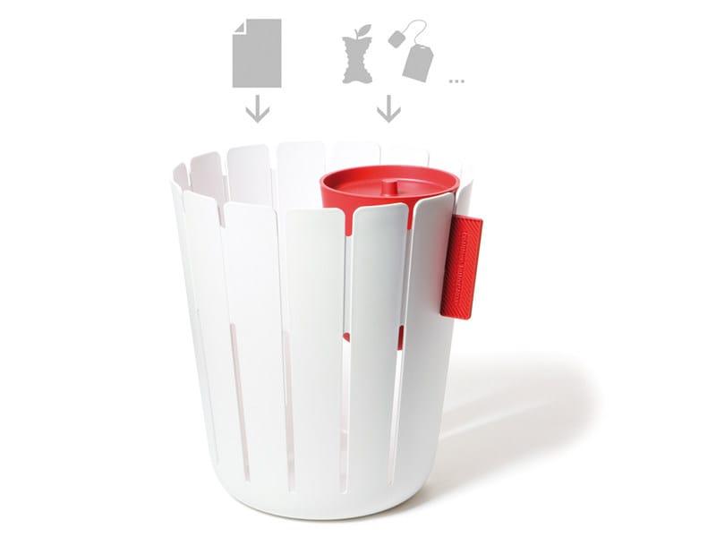 Polypropylene waste paper bin BASKETBIN - KONSTANTIN SLAWINSKI
