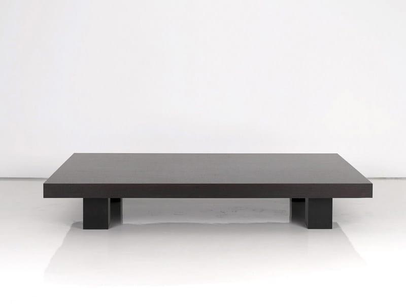 Low wooden coffee table ZEBRANO - INTERNI EDITION