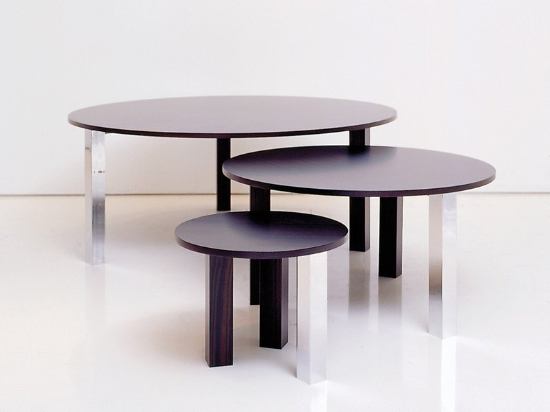 Wooden coffee table NYMPHEAS by INTERNI EDITION