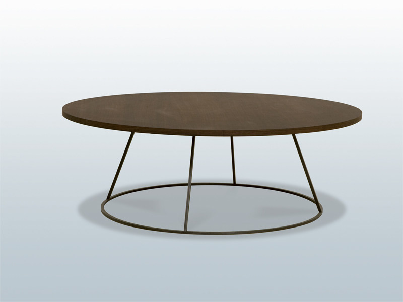 Round wooden coffee table TAMBOUR - INTERNI EDITION