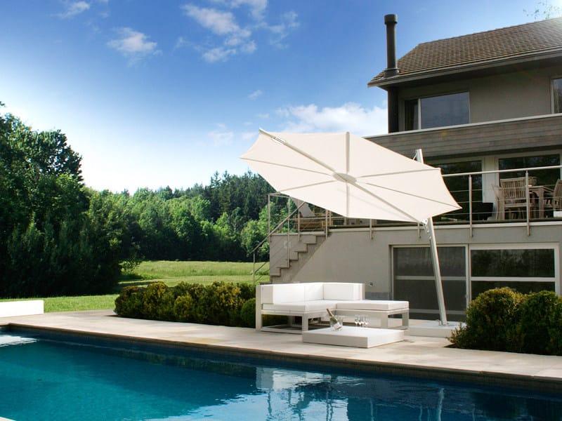 Offset Garden umbrella SPECTRA | Round Garden umbrella - Umbrosa