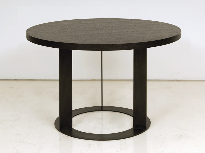 Round wooden dining table DELHI | Table - INTERNI EDITION