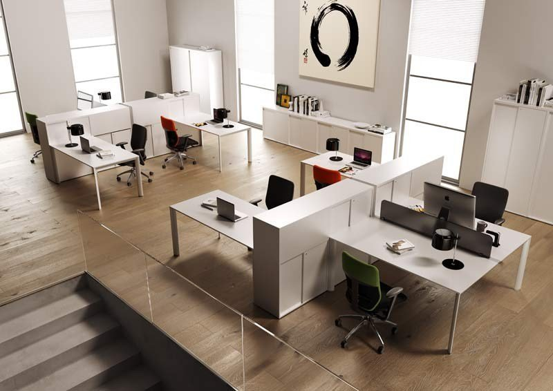 Workstation with partitions ONLINE3 | Office workstation by MASCAGNI