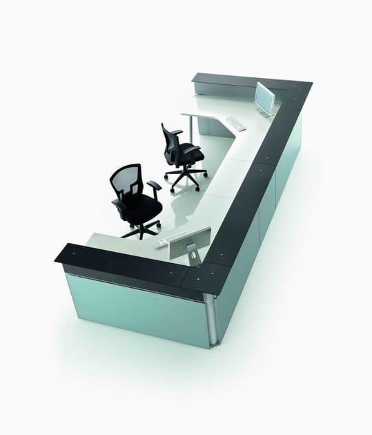Modular reception desk OP   Reception desk - MASCAGNI