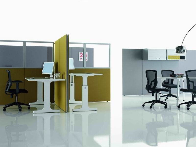 Sound absorbing free standing workstation screen OP | Workstation screen - MASCAGNI