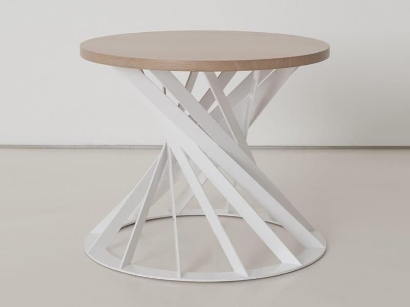 Round wooden coffee table TWIST   Coffee table - INTERNI EDITION