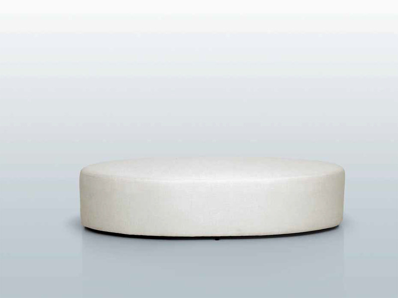 Upholstered fabric pouf POUF OVALE - INTERNI EDITION