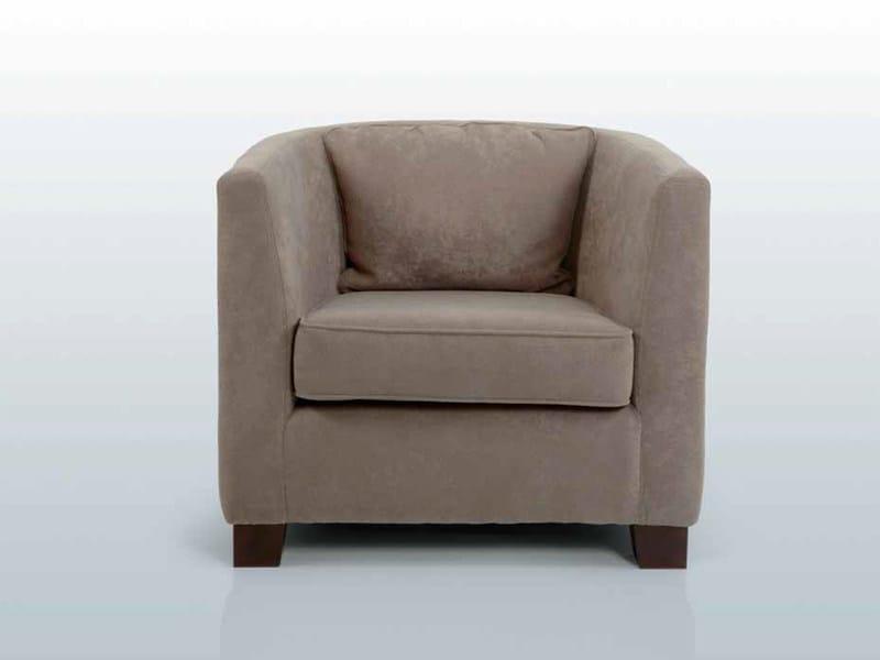 Fabric armchair with armrests SOHO - INTERNI EDITION