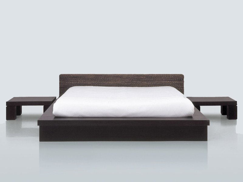 Natural fibre double bed HUKET - INTERNI EDITION
