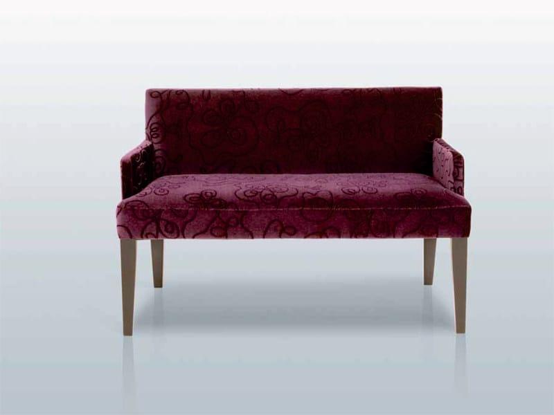 Fabric small sofa BANC SEATON ACCOUDOIRS - INTERNI EDITION
