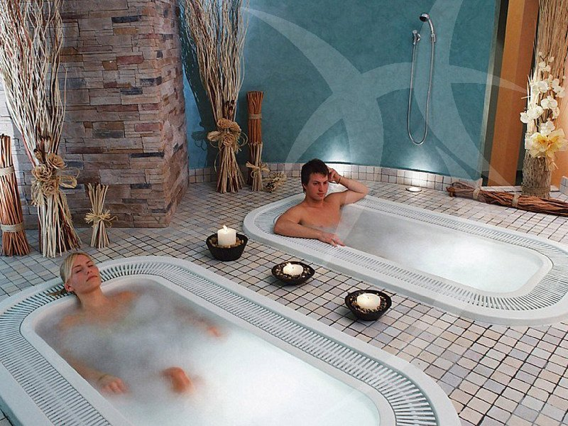 Built-in whirlpool bathtub Bathtub - Happy Sauna