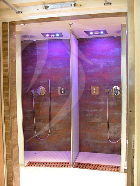 Doccia emozionale per aromaterapia per cromoterapia doccia emozionale per cromoterapia happy sauna - Box doccia cromoterapia ...
