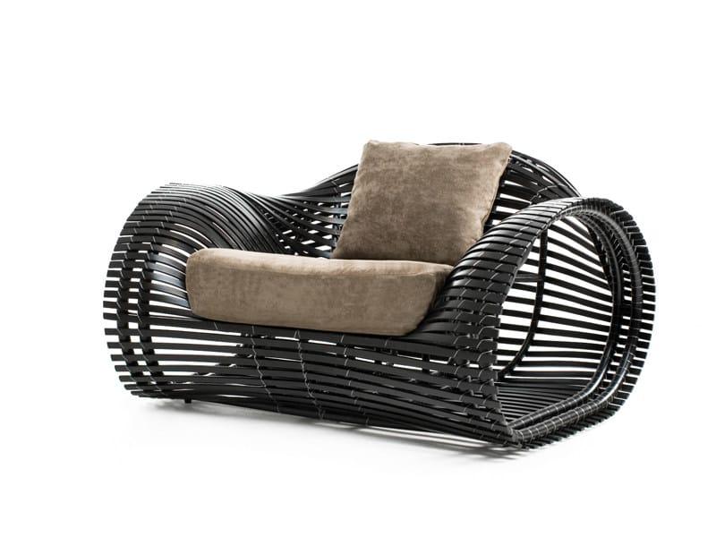 Rattan garden armchair LOLAH | Garden armchair by KENNETH COBONPUE