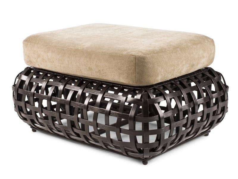 Upholstered rattan pouf MATILDA | Pouf - KENNETH COBONPUE