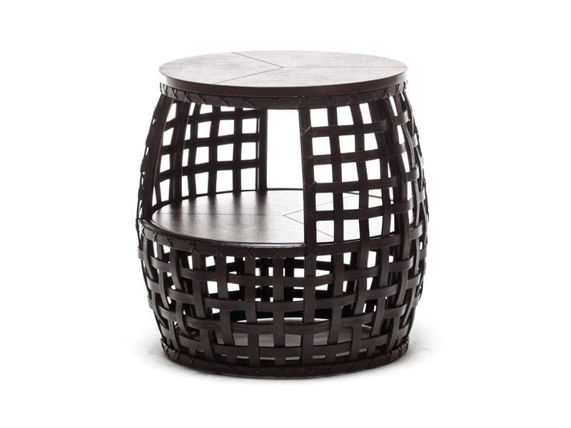Low round polyethylene coffee table MATILDA | Round coffee table - KENNETH COBONPUE