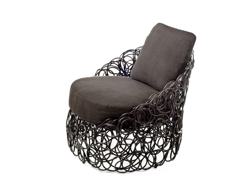 Rattan armchair NOODLE | Armchair by KENNETH COBONPUE