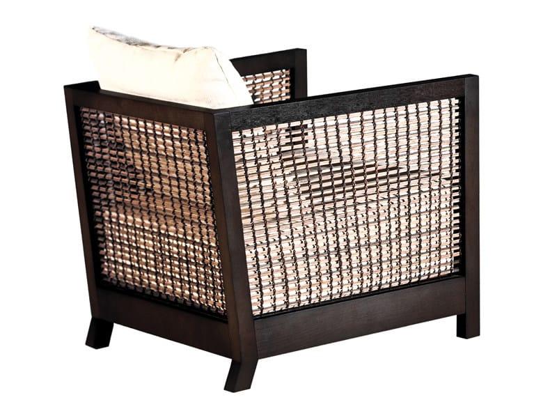 Oriental style rattan armchair SUZY WONG | Armchair - KENNETH COBONPUE