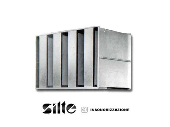 Special system for acoustic correction SILENZIATORI AD ASSORBIMENTO by SILTE