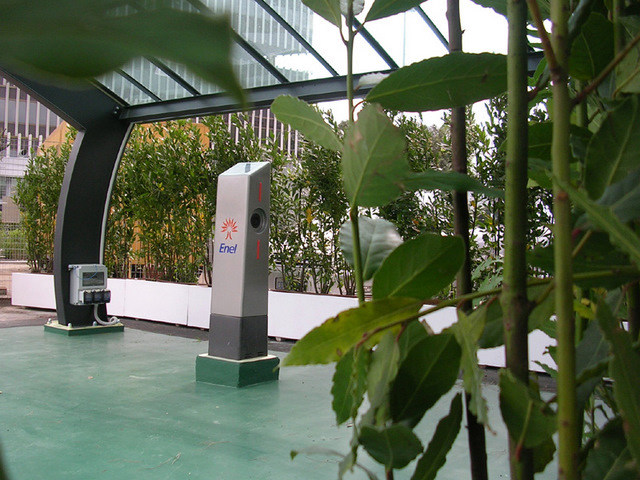 Marquesina con paneles fotovoltaicos para aparcamiento ONDA ENERGY - GREEN PARK