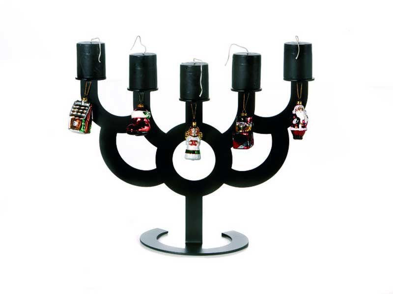 Steel candlestick LITTLE BOLD - Moooi©